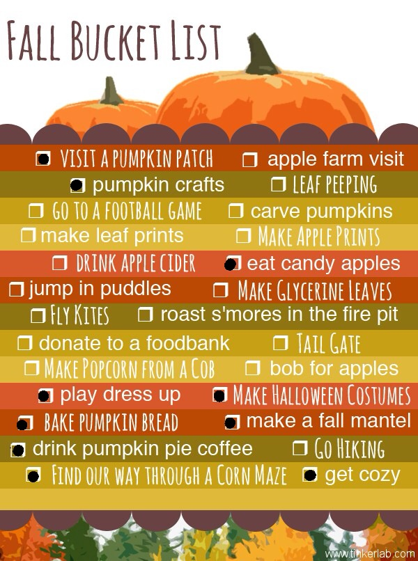 fall bucketlist