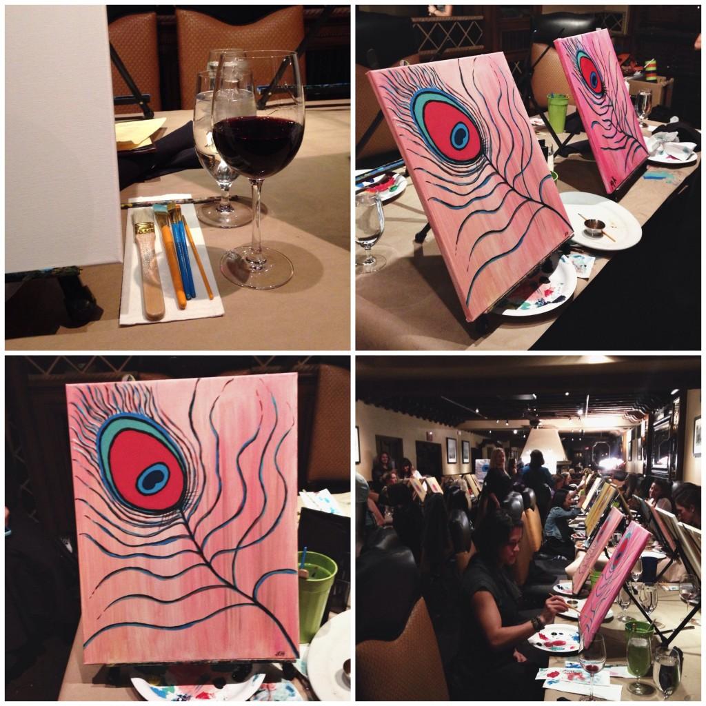 painting and vino 2