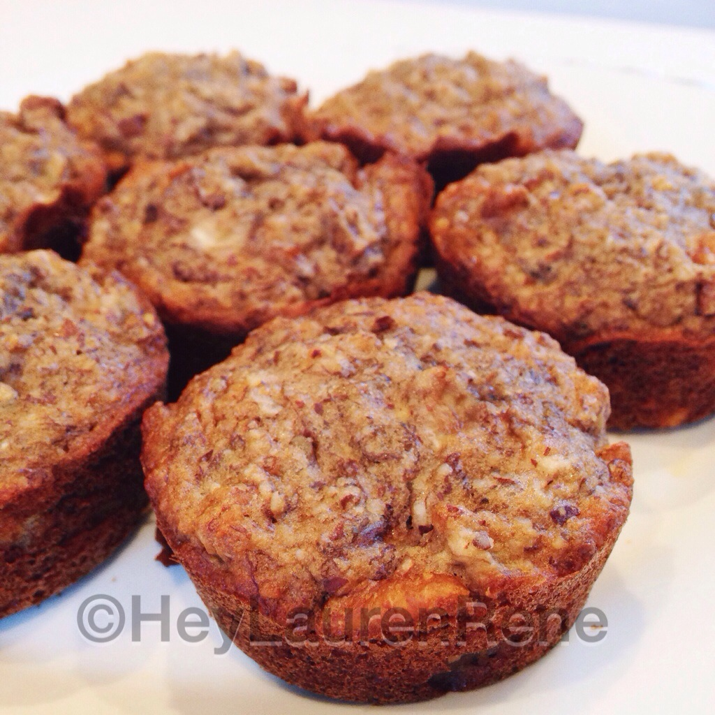 Clean banana nut muffins
