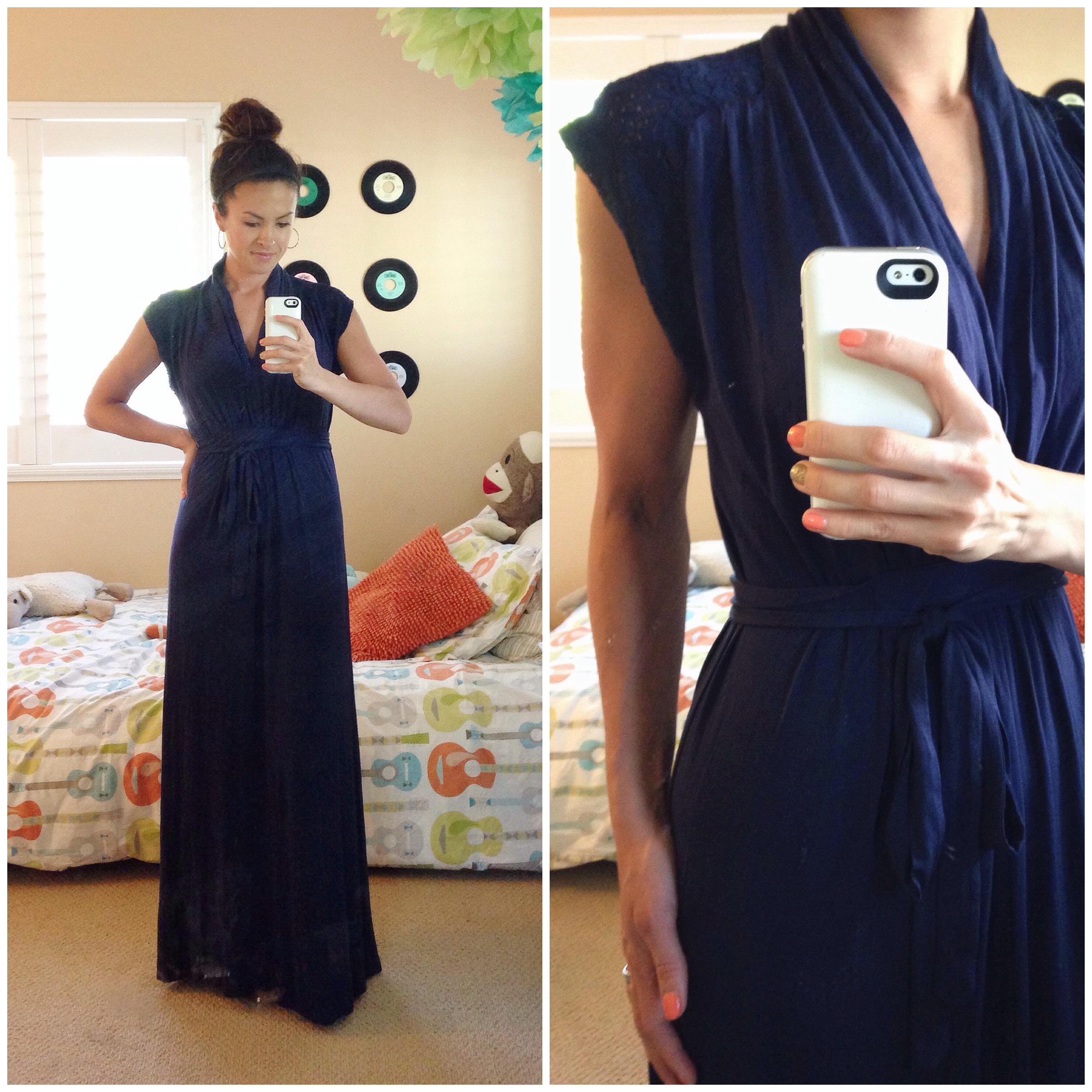 Devin Lace Detail Tie-Waist Maxi Dress